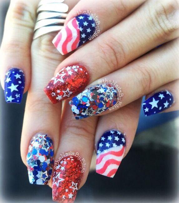 patrioticnails.quenalbertini: July 4th Nail Design | Nail Art Gallery