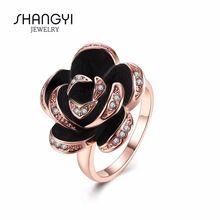 Цветок розы Форма В-четвертых Обручальное кольцо