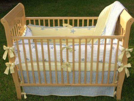 Baby Moon And Stars Nursery Theme Crib Bedding And Decor Star Themed Nursery Baby Boy Cribs Baby Bed