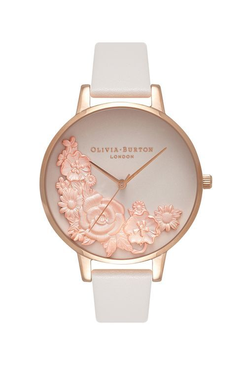 Moulded Floral Bouquet Blush Watch By Olivia Burton