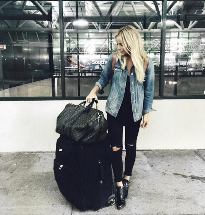 Chic Travel-Outfit Ideas to Try This Season via @WhoWhatWearUK