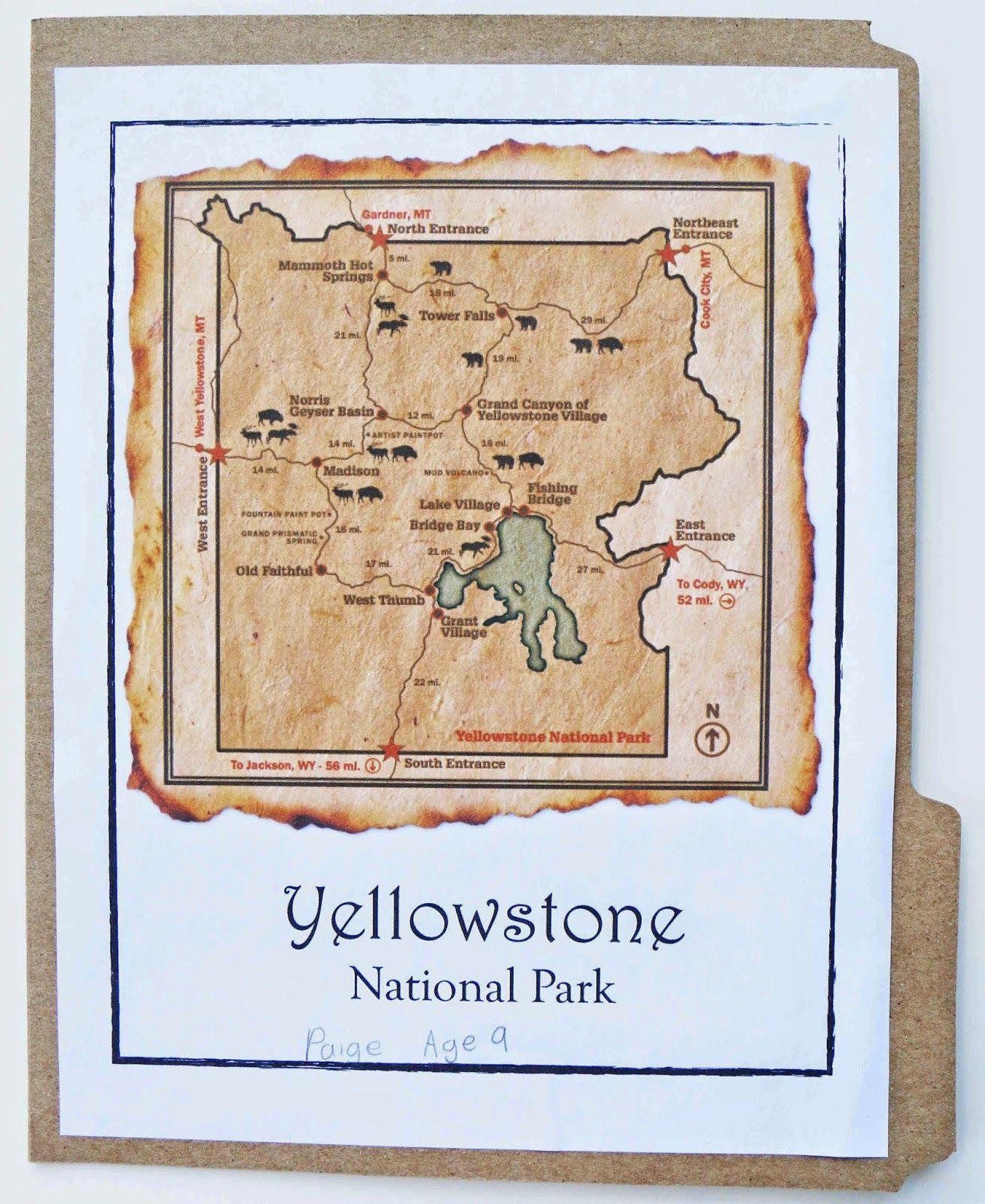 Free Yellowstone National Park Lapbook