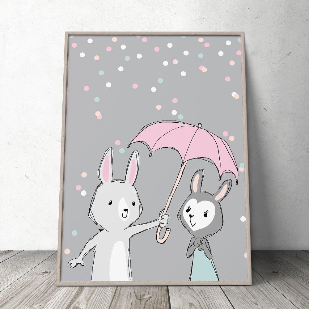 Be My Bunny Baby – Børneplakat fra PRIK & STREG www.prikogstreg.dk