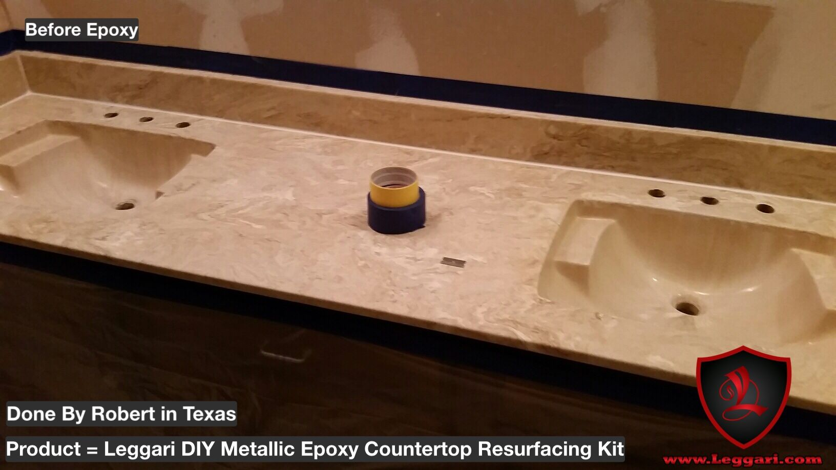 Before picture) of our #diy #metallic #epoxy #countertop ...