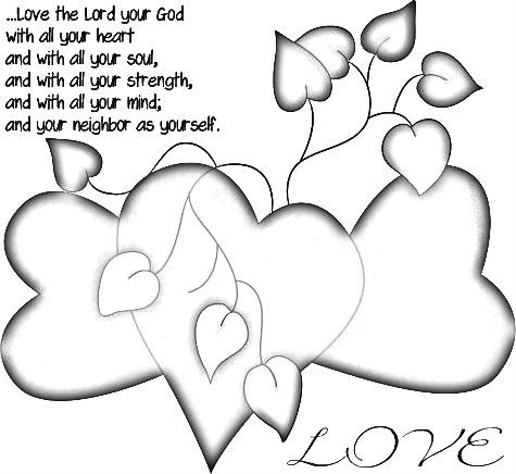 Love The Lord Coloring Page Happy Grandparents Day Heart