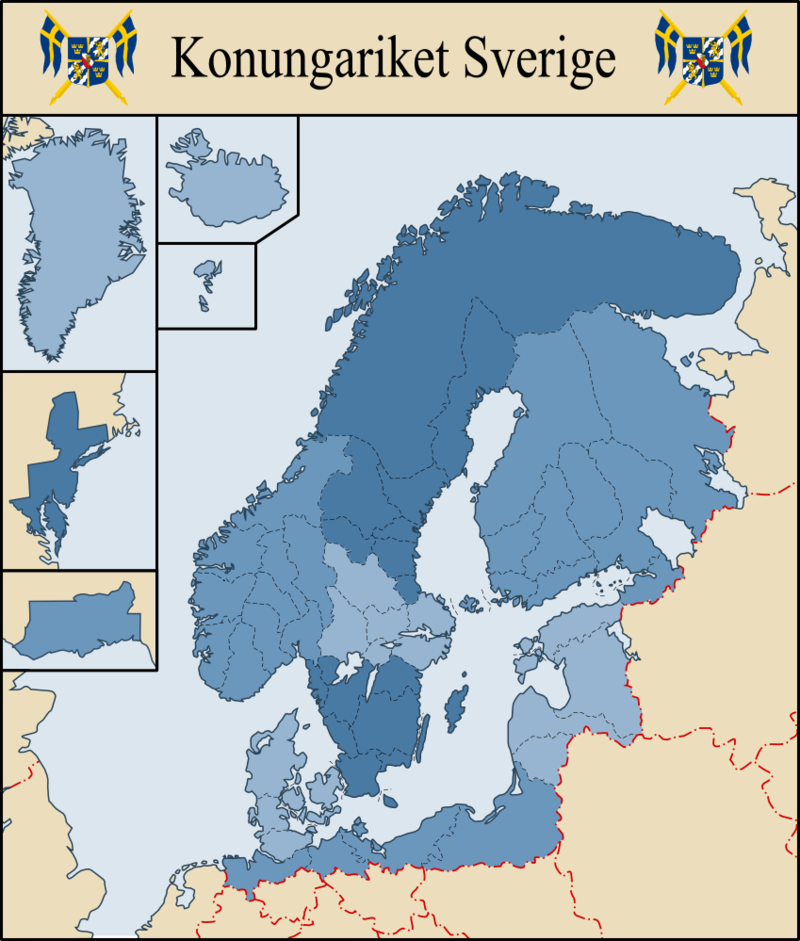 The Greater Swedish Empire By Fenn O Manic Deviantart Com On Deviantart Amazing Maps Historical Maps Infographic Map