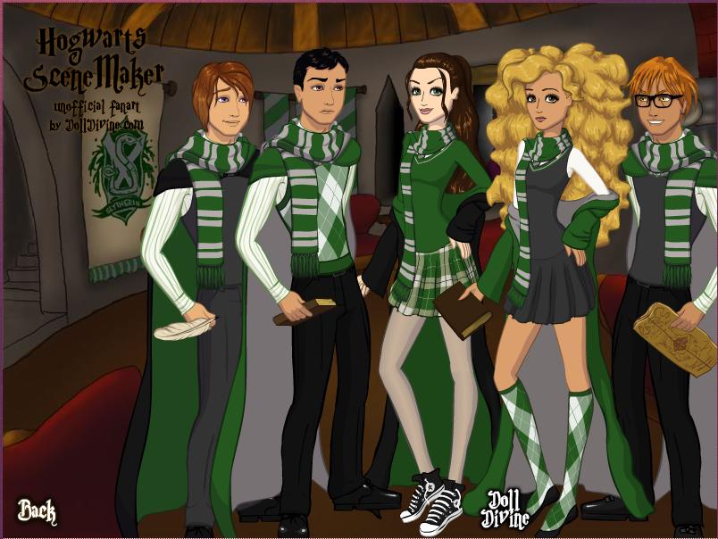 The Hogwarts Lineup by Chrissiannie.deviantart.com on @DeviantArt