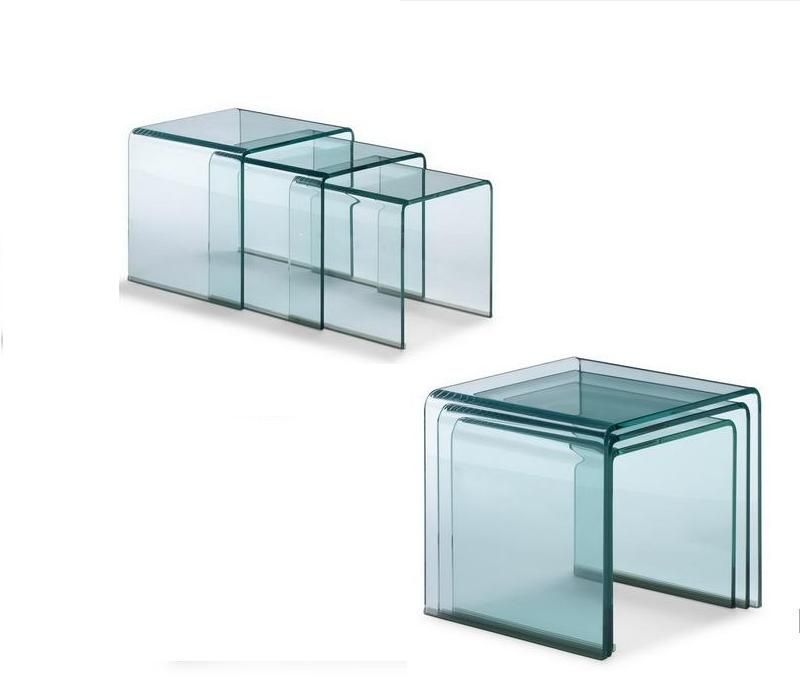 Tempered Bent Glass Rectangle Coffee