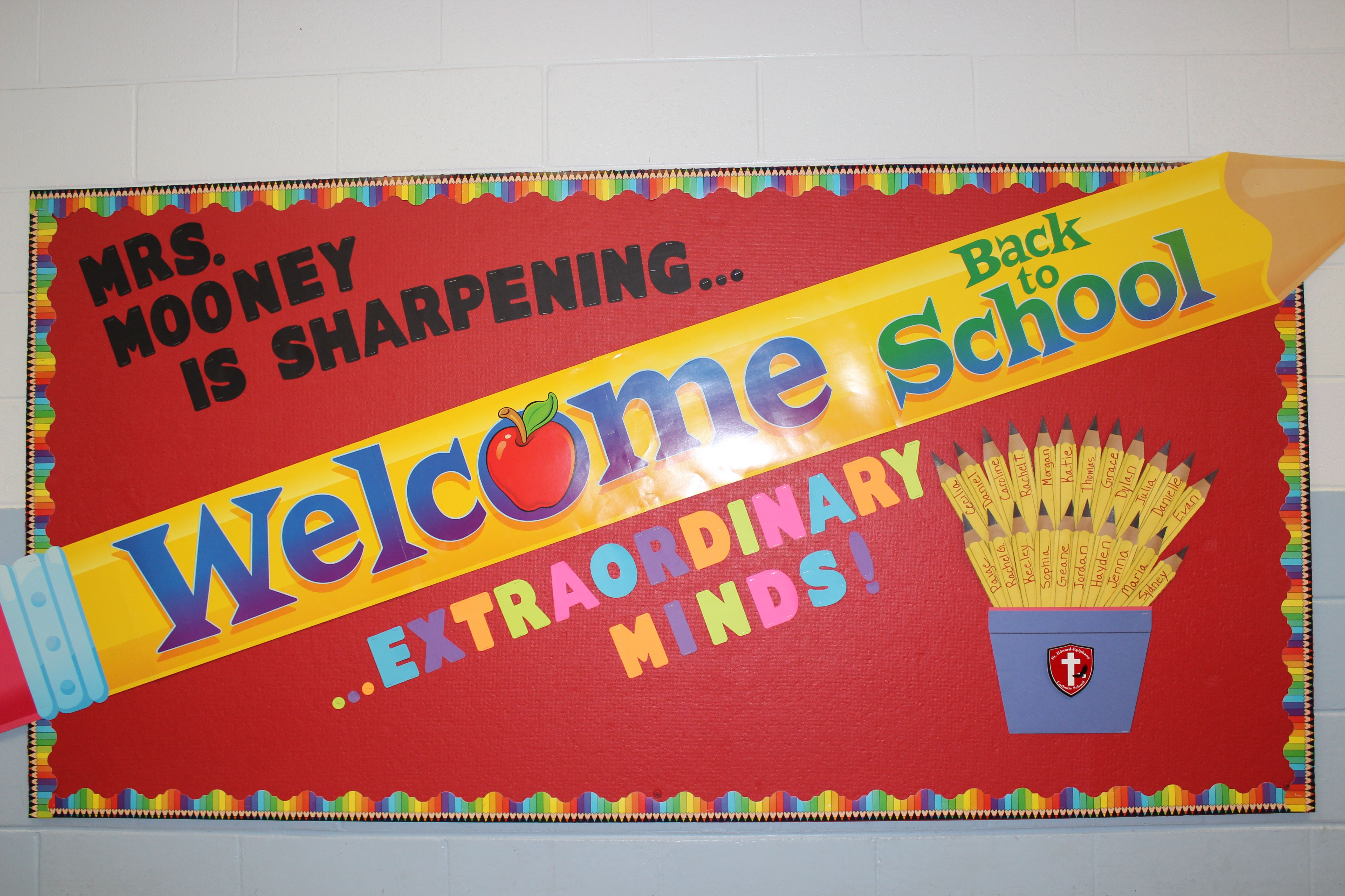 Welcome Back Board For 4th Grade Bulletin Boards