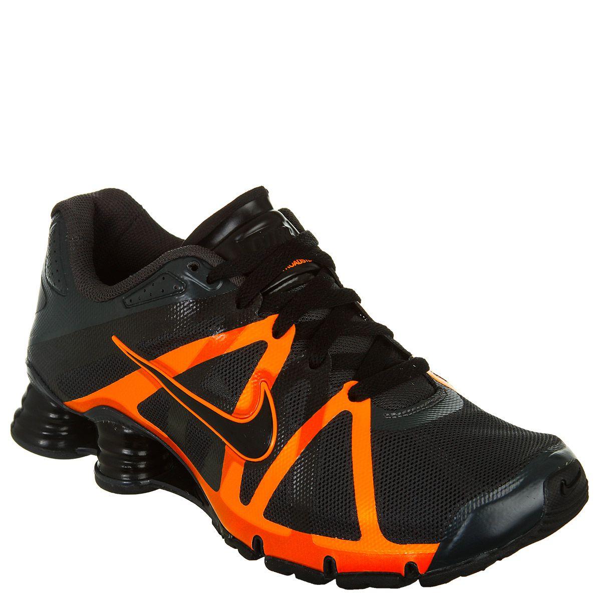4205868312d ... masculino Leilão Relâmpago 1 hora Tênis Nike Shox Roadster+ -  PretoLaranja .