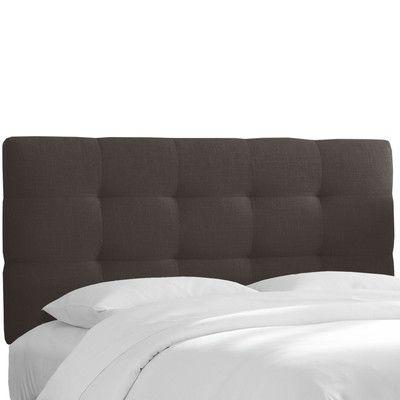 Brayden Studio Setzer Tufted Linen Full Upholstered Panel Headboard