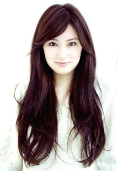 Long Asian Hairstyles For Round Faces Long Hair With Bangs Haircuts For Long Hair Hair Styles