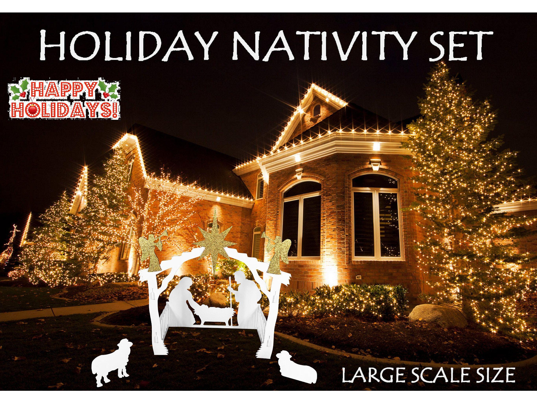 62 - Inch MyNativity Christmas Outdoor Nativity Set Large