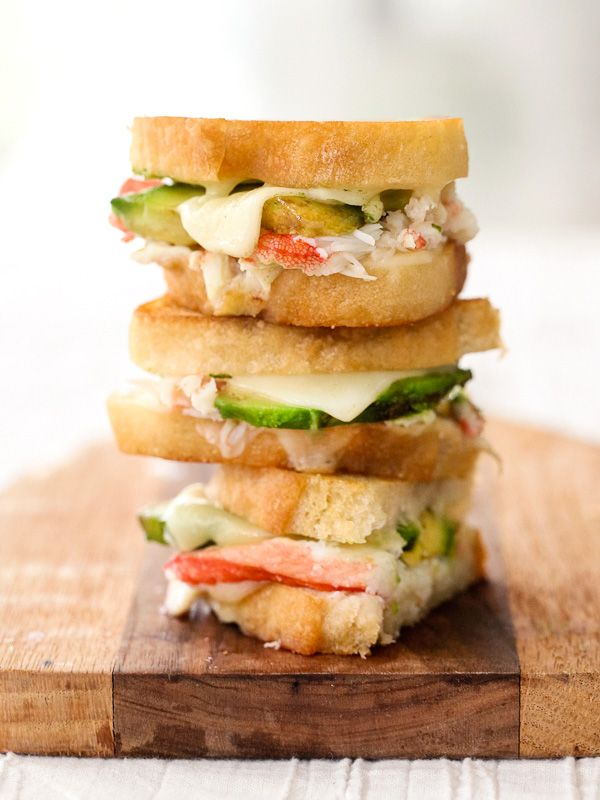 Crab and Avocado Grilled Cheese - foodiecrush