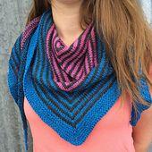 Ravelry: Mirasol Striped Shawlette pattern by Sharyn Anhalt