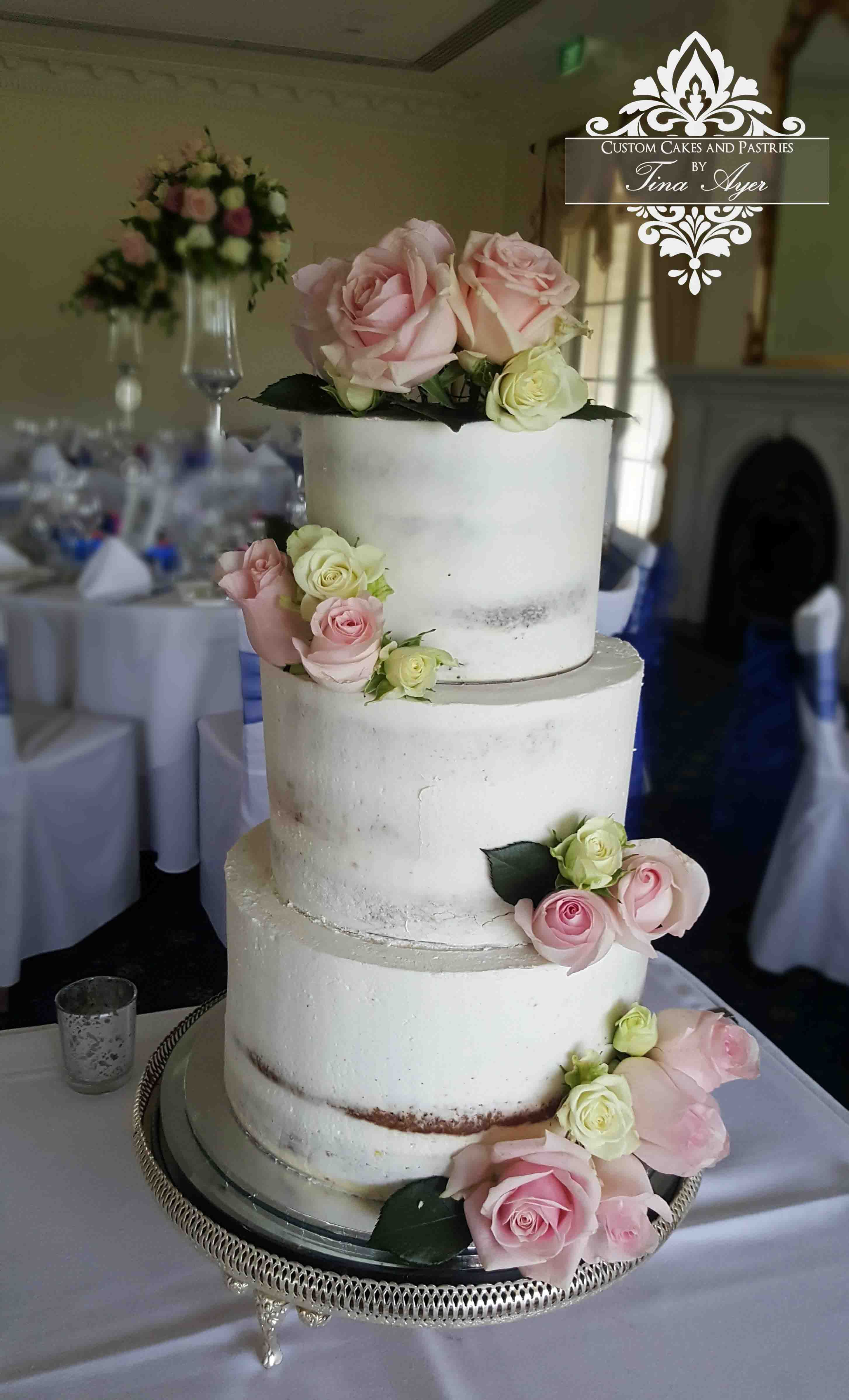 wedding cake stands melbourne semi wedding cake with white and pink roses with 25659