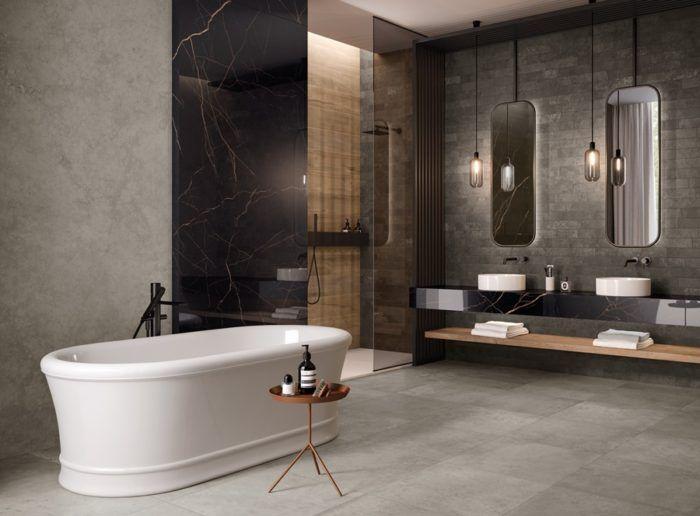 Rivestire il bagno con il gres grande formato il progetto wide