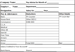 Salary Slip Format In Word Free Download  Payment Slip Format In Word