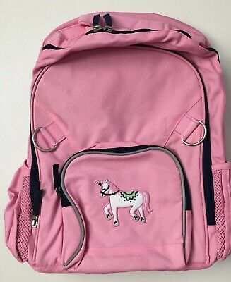 Pottery Barn Kids Fairfax Large Pink Navy Unicorn Backpack
