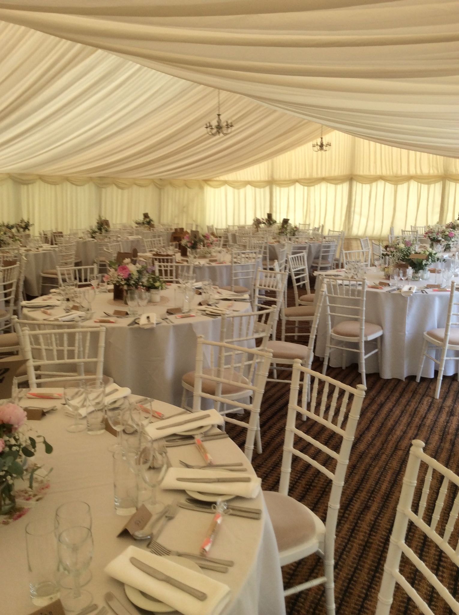 sussex chiavari chair hire from pollen4hire - firle place marquee