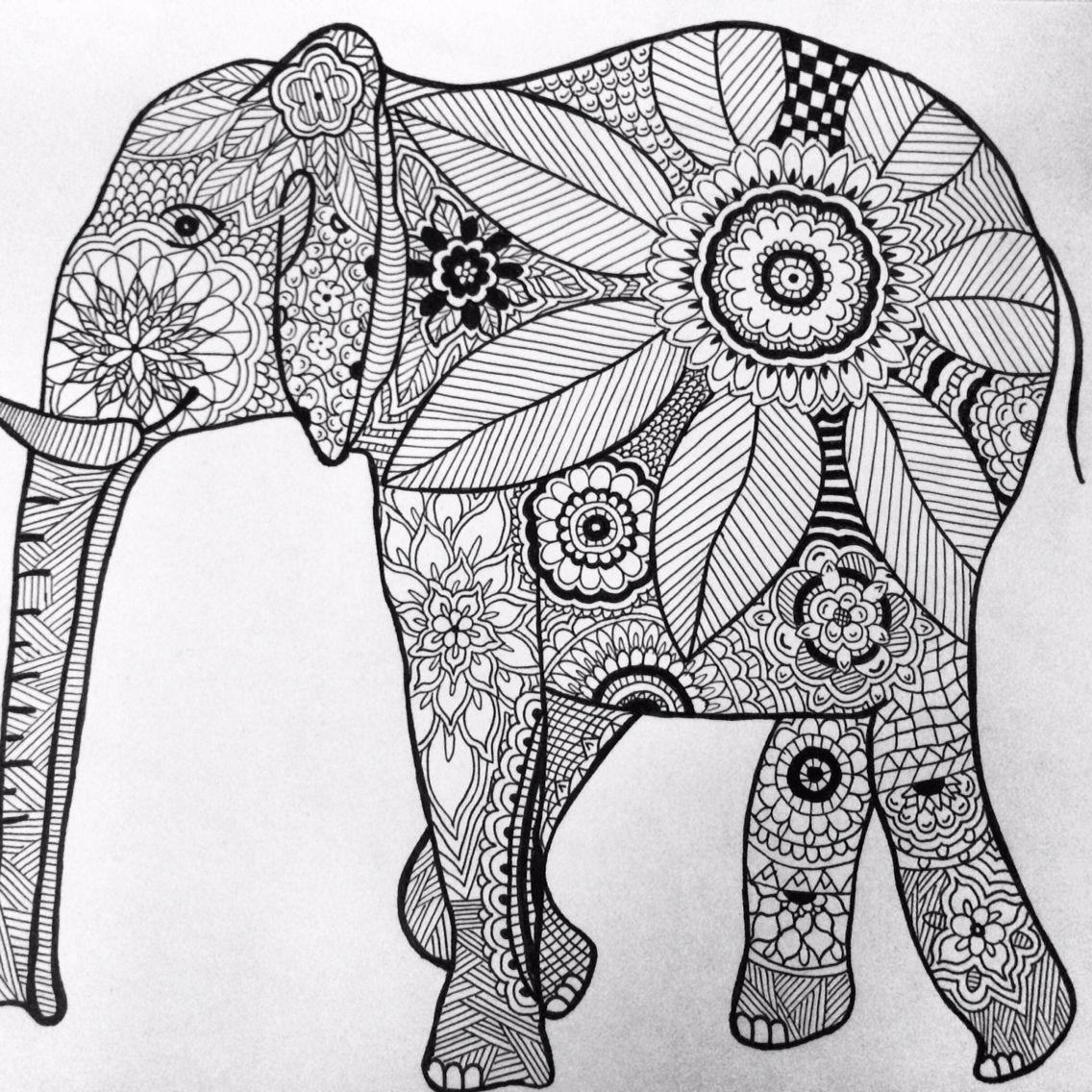 tegning elefant