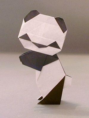 panda origami instructions 3d origami pinterest. Black Bedroom Furniture Sets. Home Design Ideas