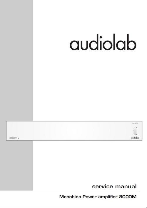 audiolab 8000m original service manual in pdf hi fi useful service