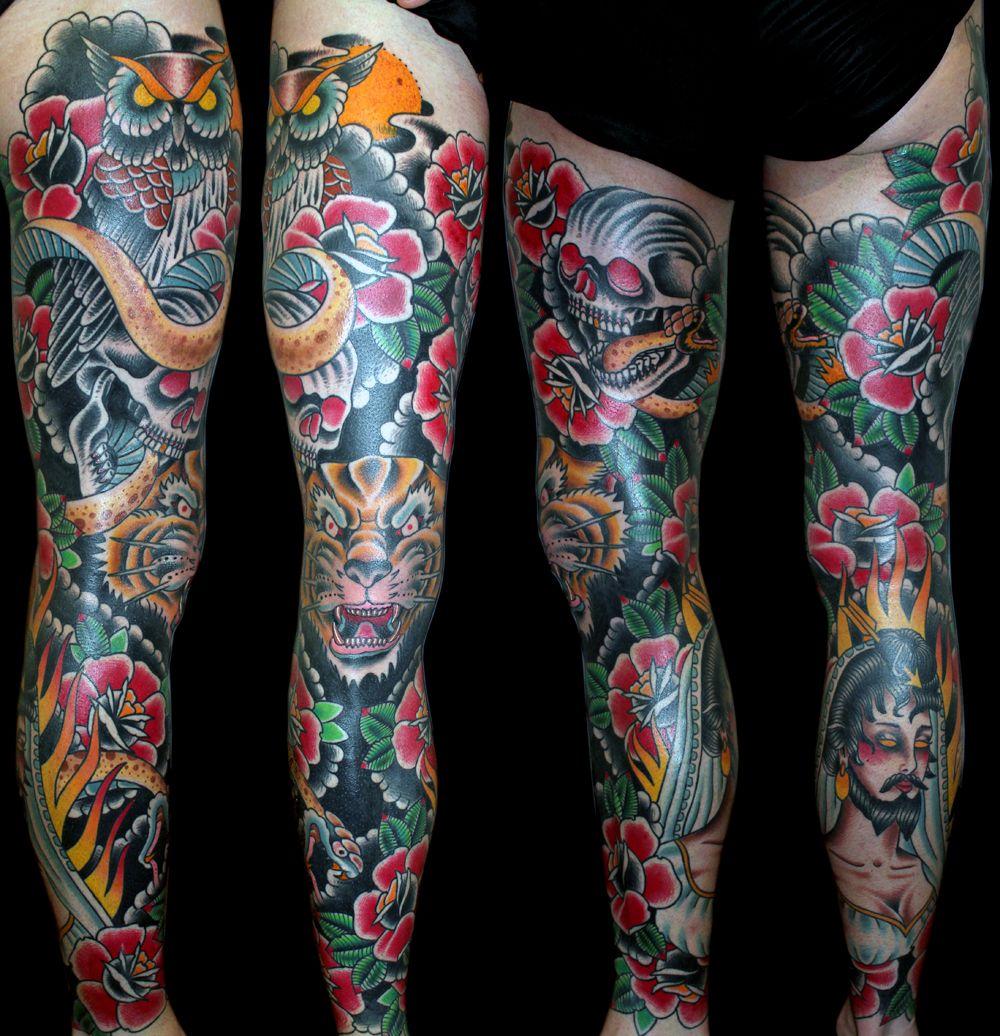 Full Leg Tattoos For Women Full leg tattoo designs Whole