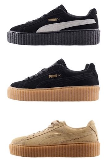 6d1f9052483 Puma by rihanna women suede creeper black-oatmeal oatmeal black-star ...