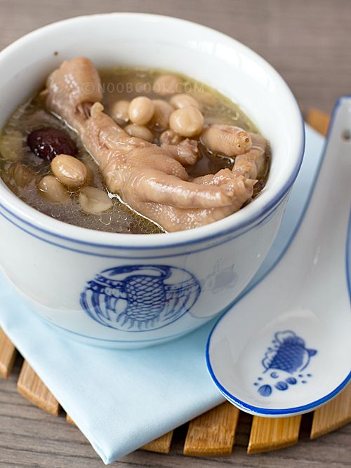 Chinese Style Chicken Feet Peanuts Soup Chicken Feet May