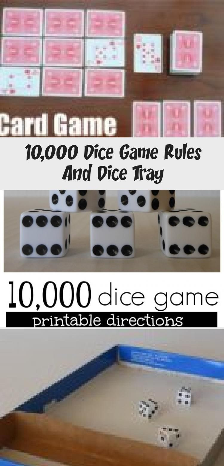 10 000 Dice Game Rules And Dice Tray In 2020 Dice Game Rules Dice Games Games