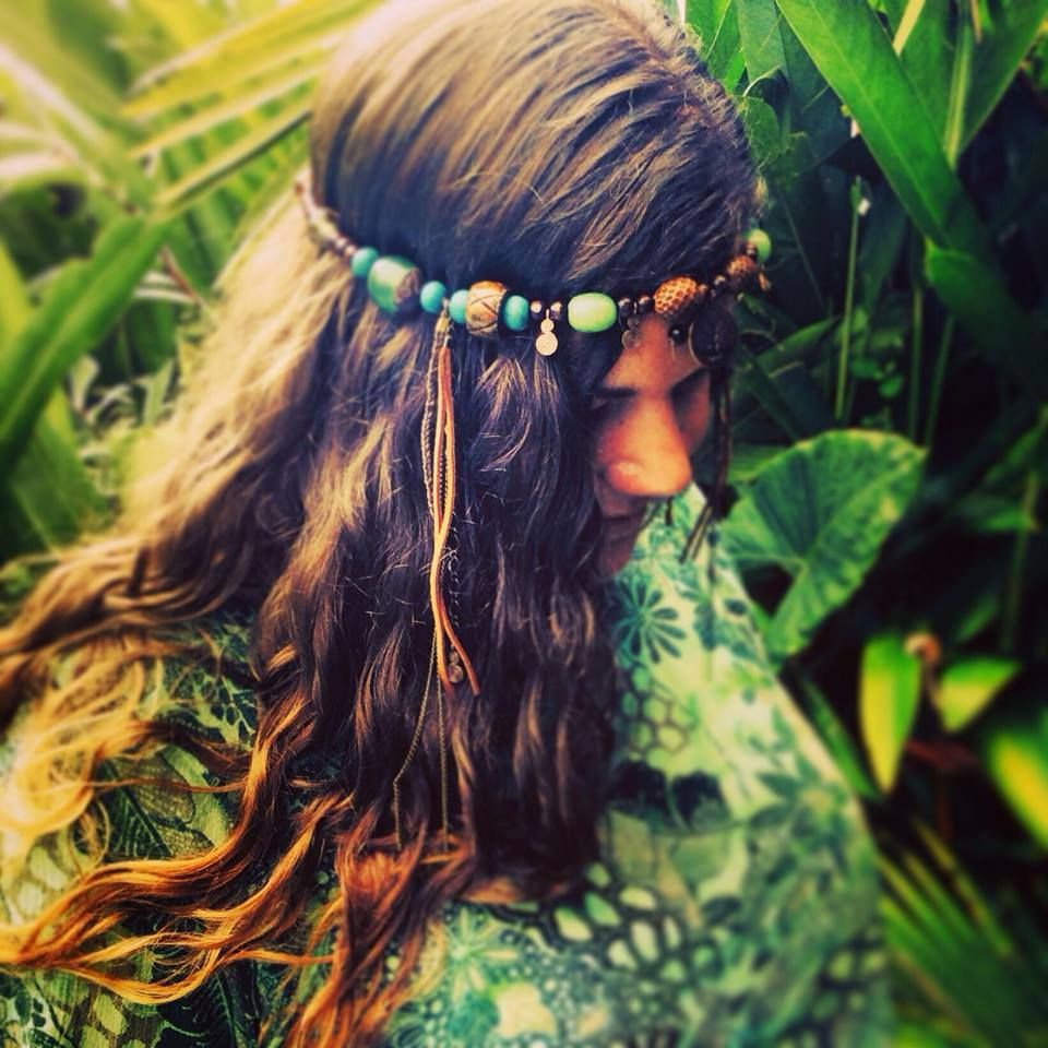 Mother Gaia's Tree of Life headpiece - Made using recycled materials <3