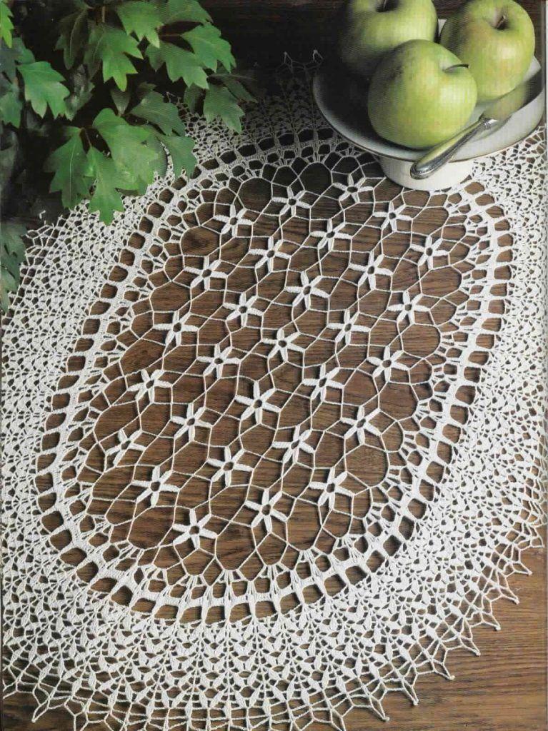 Floral Oval Doily Crochet Pattern Doilies Pinterest Crochet