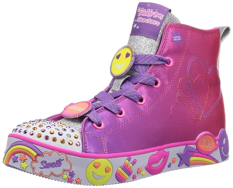 Skechers Kids' Happy Lites Positive Princess Sneaker