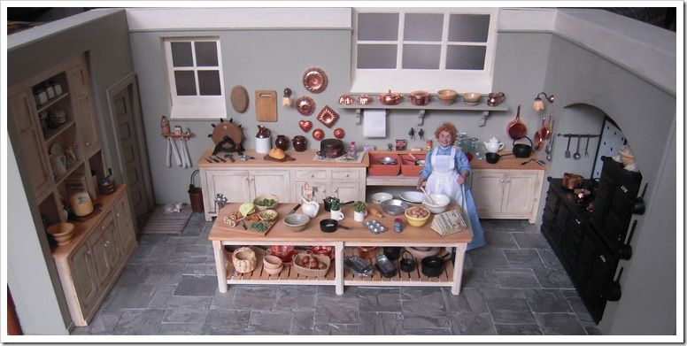 Downton Abbey Kitchen In Miniature Part 2  Mary & Martha Tours Adorable Downton Abbey Kitchen Design 2018