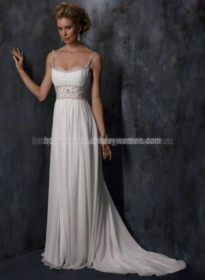 Sheath/Column Square Dramatic Style Organze Wedding Dresses ORWD-30136 with Crystal