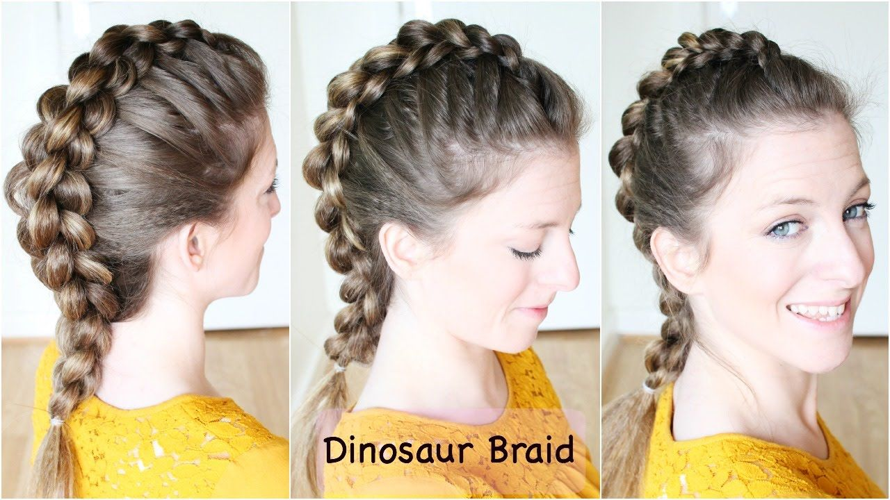How To Dinosaur Braid Hair Tutorial Mohawk Braid Lange Haare Frisuren Lang Haare