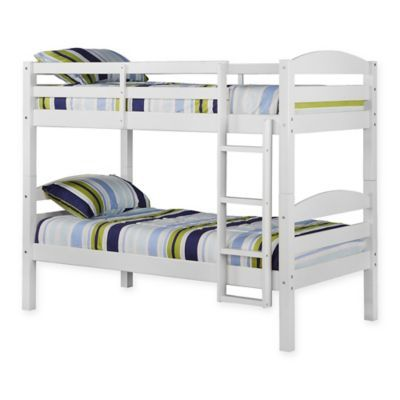 Best Forest Gate Solid Wood Twin Over Twin Bunk Bed In White In 400 x 300