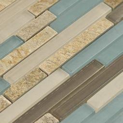Santiago Glass Amp Stone Mix Tile 8mm Accent Tile Stone