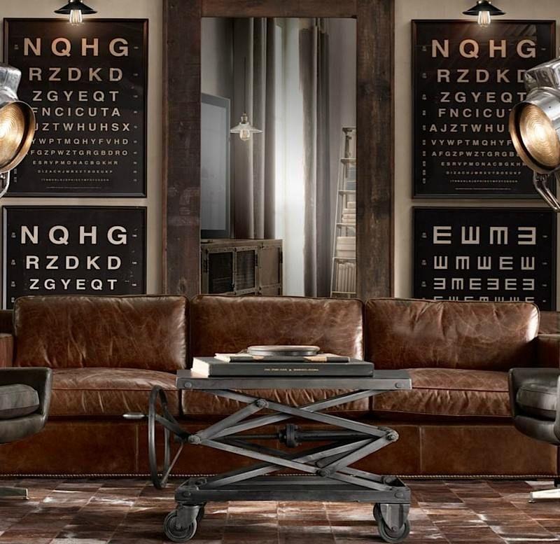 Comment Intégrer La Table Basse Style Industriel Dans Le Salon - Canapé design industriel