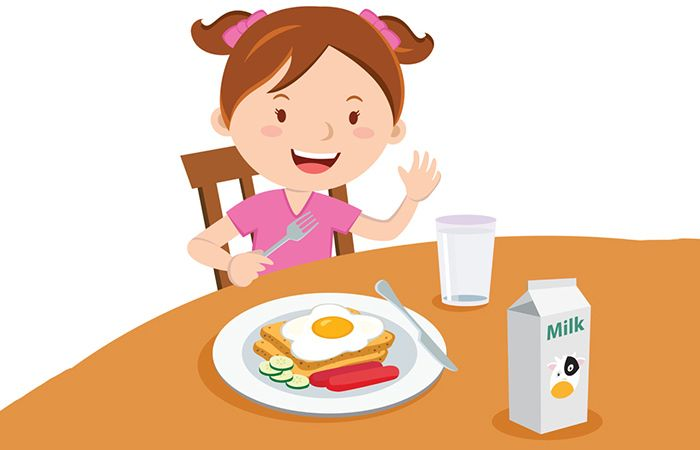 26+ Woman eating breakfast clipart info