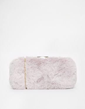 9d38ccab63 River Island Lilac Fur Box Clutch