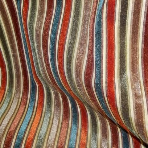 2 yards Myriad Spice Regal Striped Cut Velvet Upholstery Fabric by Golding #velvetupholsteryfabric