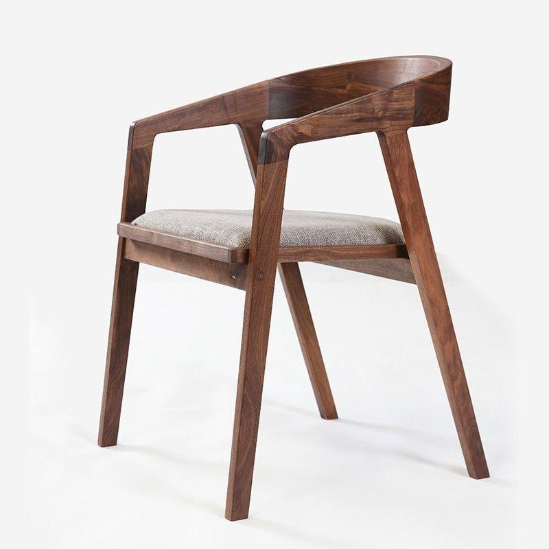 Einfache Und Moderne Mobel Nussbaum Esszimmer Stuhl Stoff