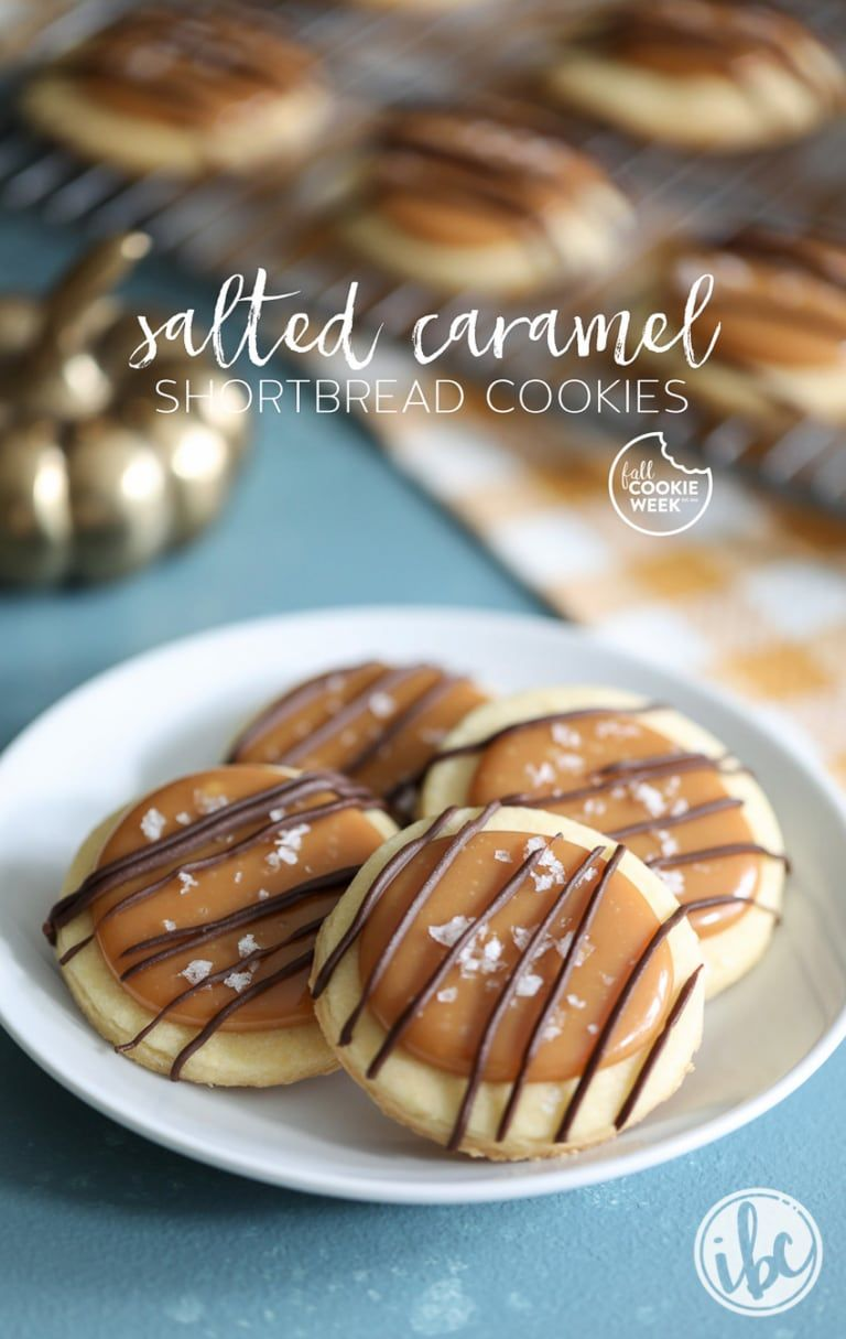 Salted Caramel Shortbread Cookies - delicious cookie recipe