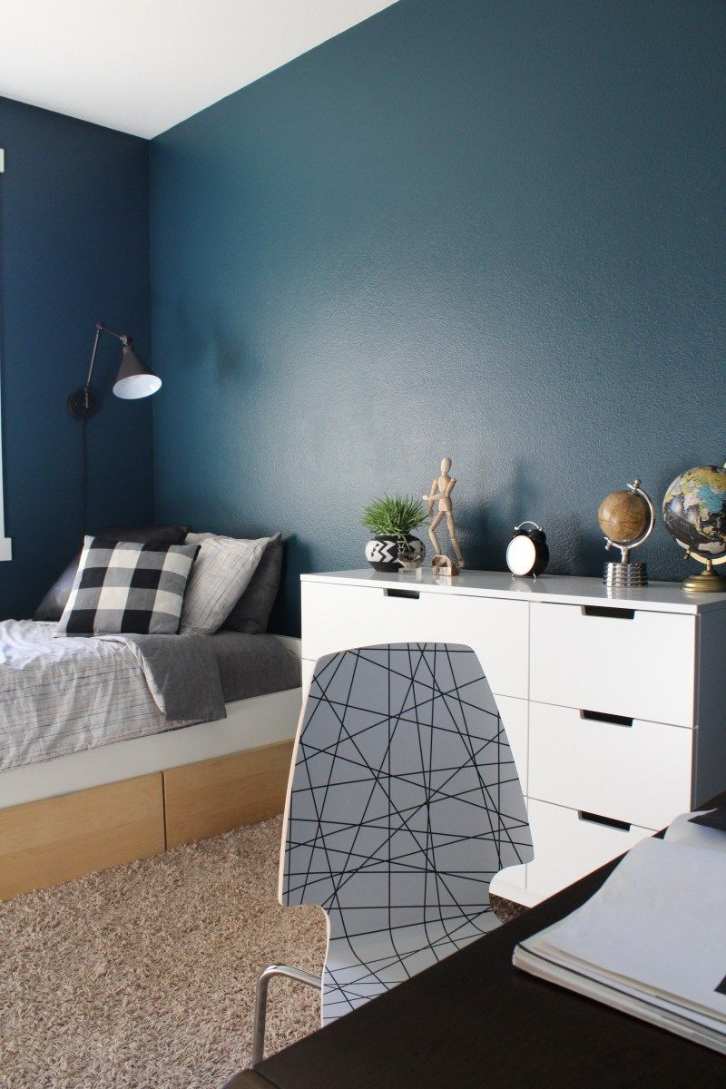 Mid Century Inspired Teen Boy's Room One Room Challenge Reveal images