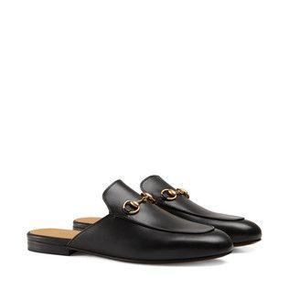 gucci princetown slipper aus leder its all gucci pinterest schuhe outfit und schuhe damen. Black Bedroom Furniture Sets. Home Design Ideas