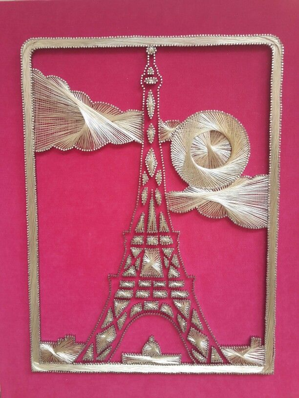 string art tableau en fils tendus tour eiffel tableau laine string art pinterest tour. Black Bedroom Furniture Sets. Home Design Ideas