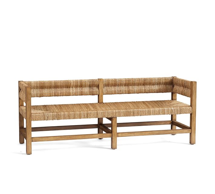 Malibu Woven Bench Bedroom Bench Pottery Barn Bench Tufted Storage Bench Furniture