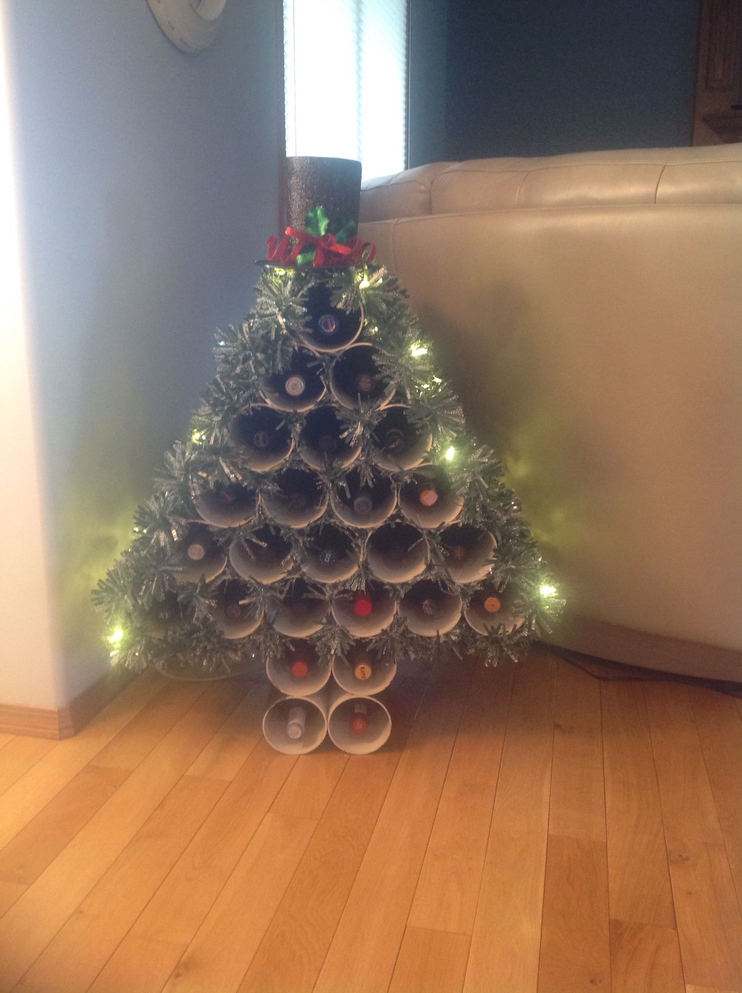 Wine advent calendar to the season Christmas